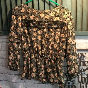 Lily Rose Sheer Long Sleeve Sheer Top Size S